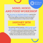 Mind, Mood, and Food Workshop Graphic