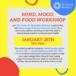 Mind, Mood, and Food Workshop Graphic
